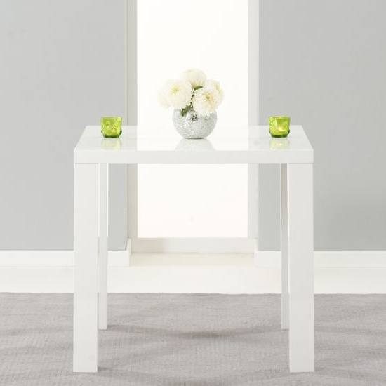 Cassiopeia Small Wooden Dining Table In High Gloss White