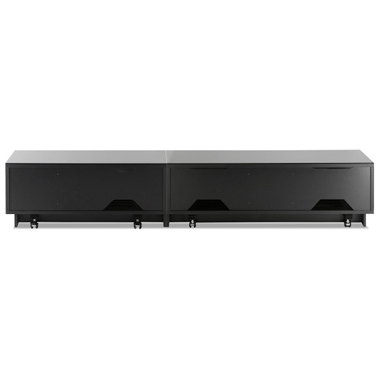 Castle LCD TV Stand Extra Large In Black With Glass Door_2