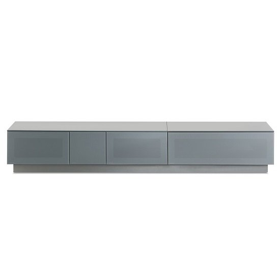 Castle LCD TV Stand Extra Large In Grey With Glass Door