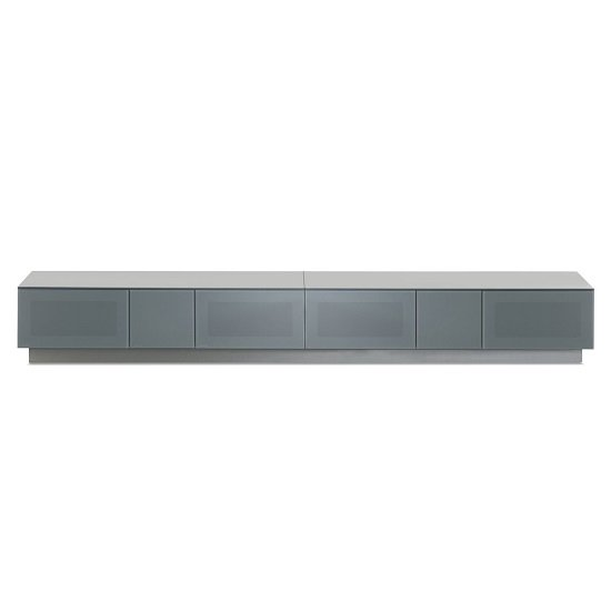 Castle LCD TV Stand In Grey With Four Glass Door