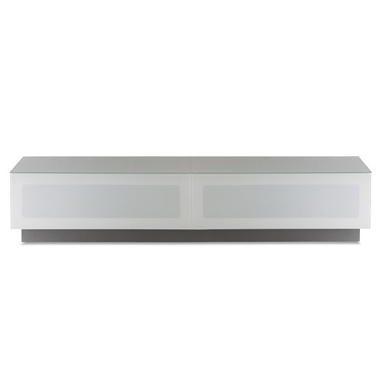 Castle LCD TV Stand Large In White With Glass Door
