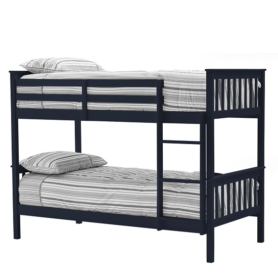 Castleford Wooden Bunk Bed In Blue