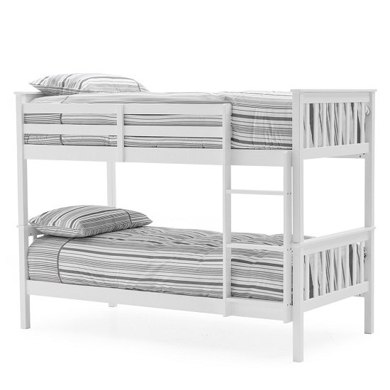 Castleford Wooden Bunk Bed In White