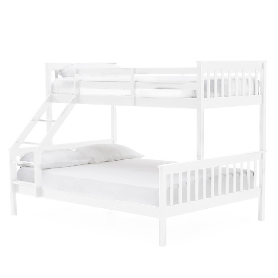 Castleford Wooden Triple Sleeper Bunk Bed In White 36957