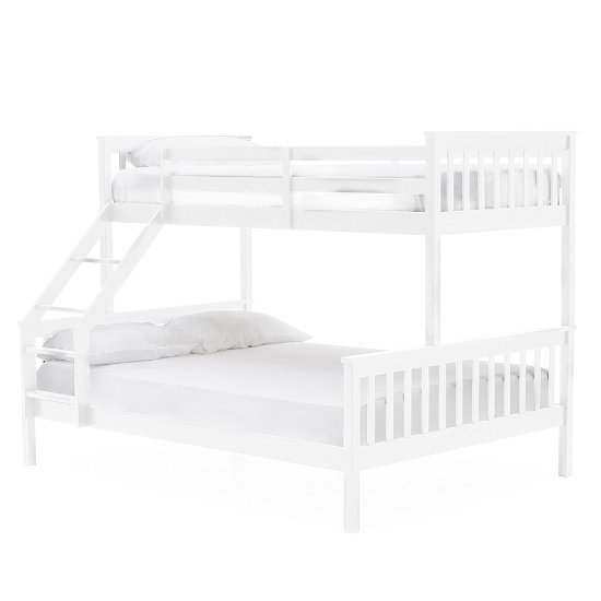 Castleford Wooden Triple Sleeper Bunk Bed In White