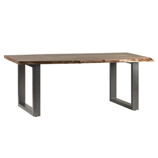 Catila Live Edge Large Wooden Dining Table In Oak