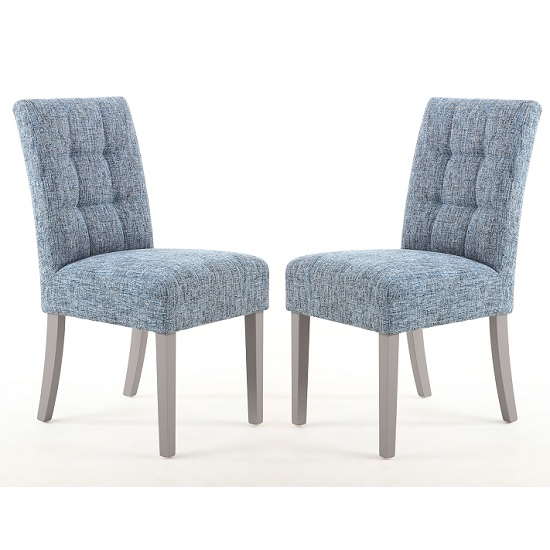Catria Dining Chair In Oxford Blue With Grey Legs In A Pair_1