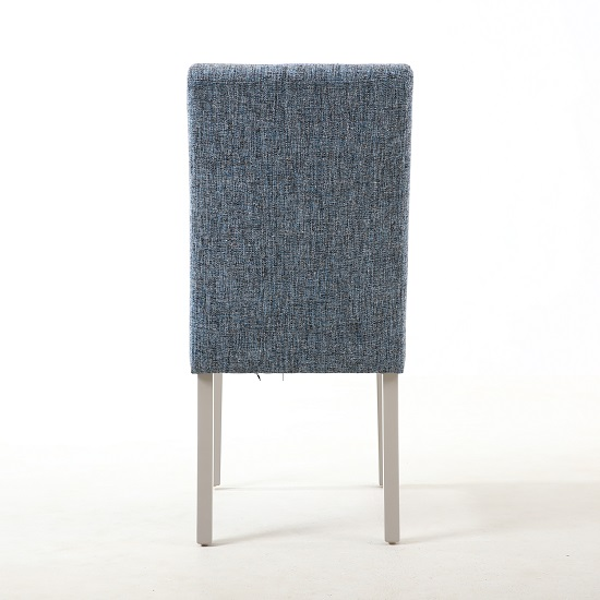 Catria Dining Chair In Oxford Blue With Grey Legs In A Pair_2