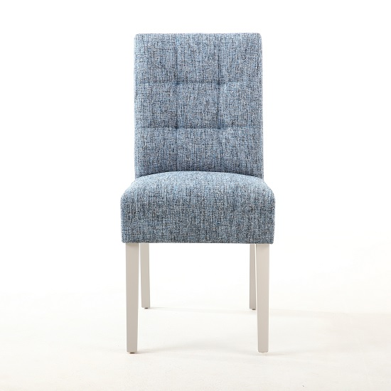 Catria Dining Chair In Oxford Blue With Grey Legs In A Pair_3