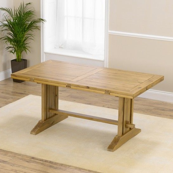 Cavano All Sides Extending Wooden Dining Table In Oak