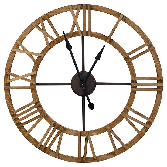 Cayman Wooden Clock With Roman Numerals_2