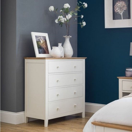 Cayuga Two Tone Chest Of Drawers In Low Sheen Lacquer