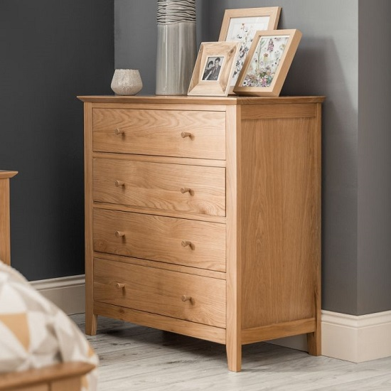 Cayuga Wooden Chest Of Drawers In Oak With Four Drawers