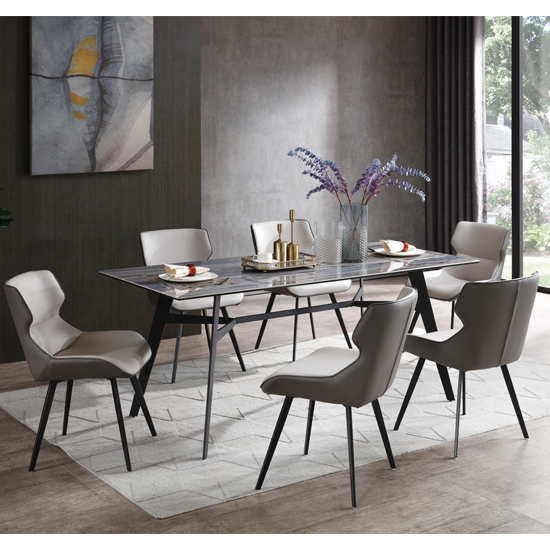 Cebalrai Glass Dining Set In Blue Mist With 6 Ancha Chairs_1