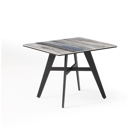 Cebalrai Glass End Table In Blue Mist With Black Metal Legs_1