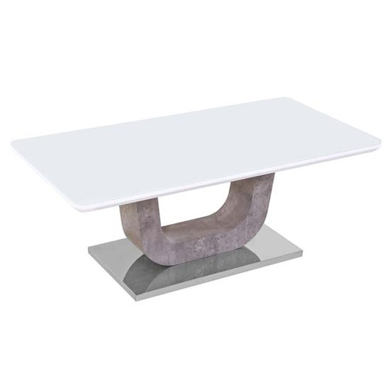 Ceibo High Gloss White Glass Coffee Table