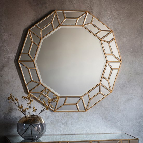 Celeste Artistic Decagon Bedroom Mirror