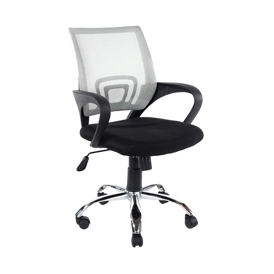 Cello Grey Mesh Back Office Chair With Black Fabric Seat