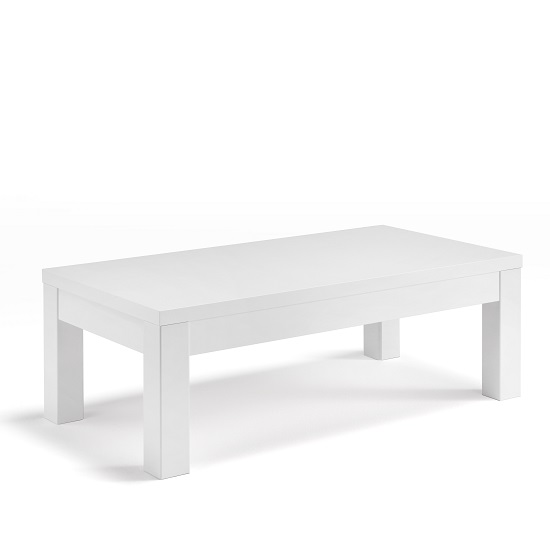 Celtic Coffee Table Rectangular In White High Gloss