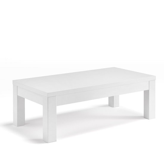 Celtic Coffee Table Rectangular In White High Gloss 30833