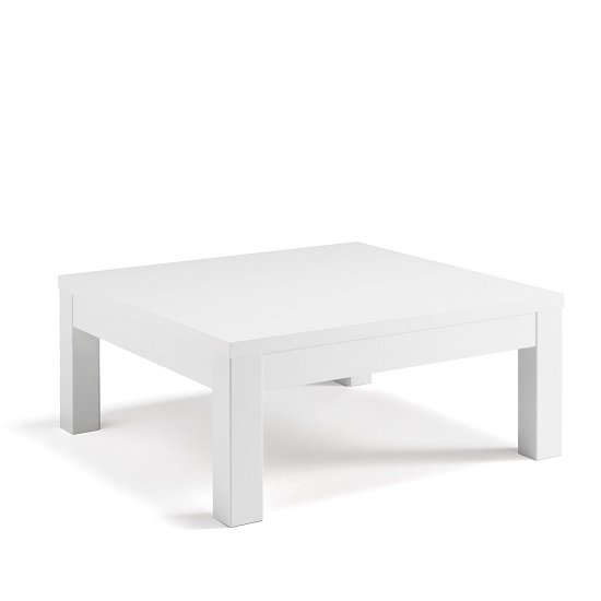 Celtic Coffee Table Square In White High Gloss