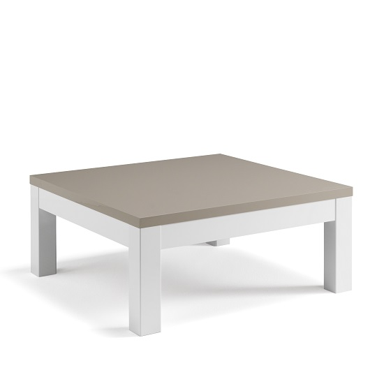 Coffee Table High Gloss White: Celtic Coffee Table Square In White And Grey High Gloss