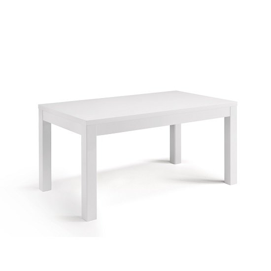 Celtic Dining Table Rectangular In White High Gloss
