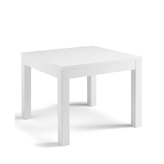 Celtic Dining Table Square In White High Gloss