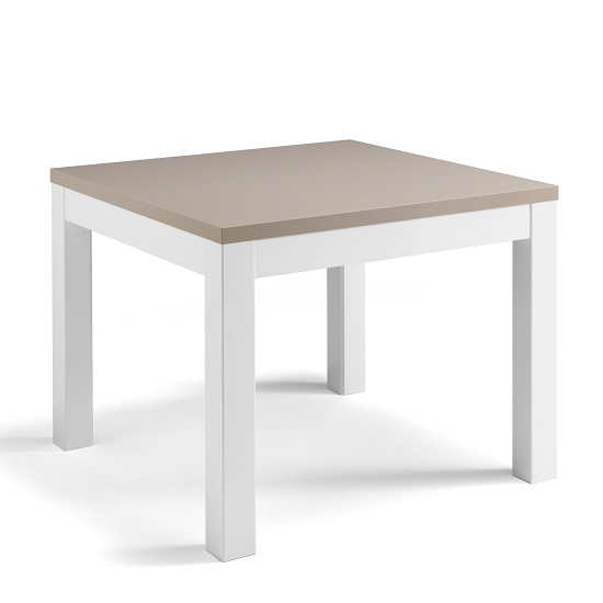 Celtic Dining Table Square In White And Grey High Gloss