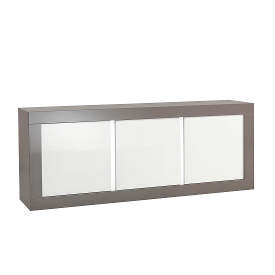Celtic Sideboard In Grey And White High Gloss With Lighting