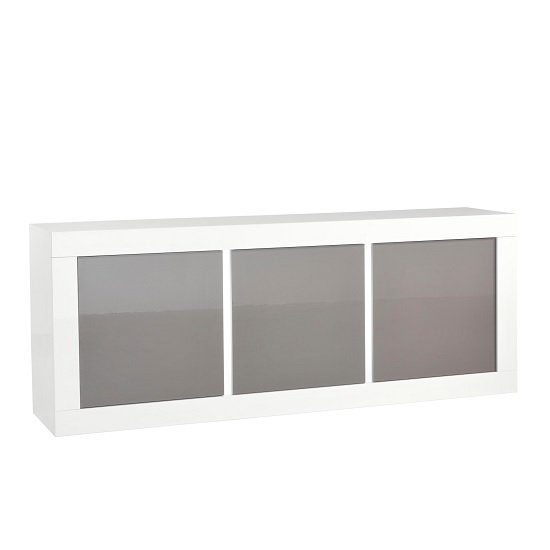 Celtic Sideboard In White And Grey High Gloss With Lighting