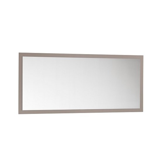 Celtic Rectangular Wall Mirror In Grey High Gloss