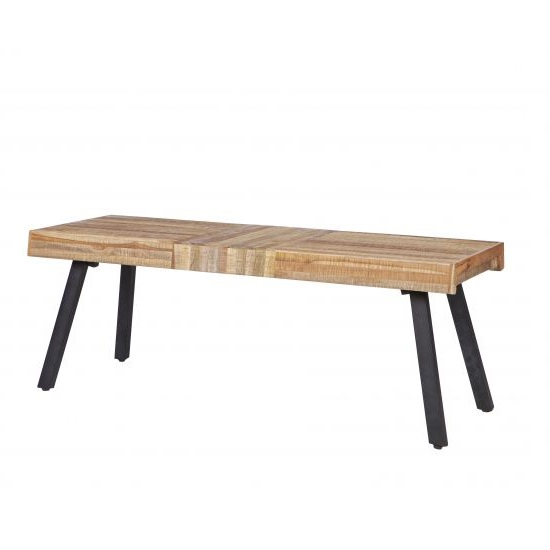 Scala Dining Bench In Black Pu And Brushed Stainless Steel 2