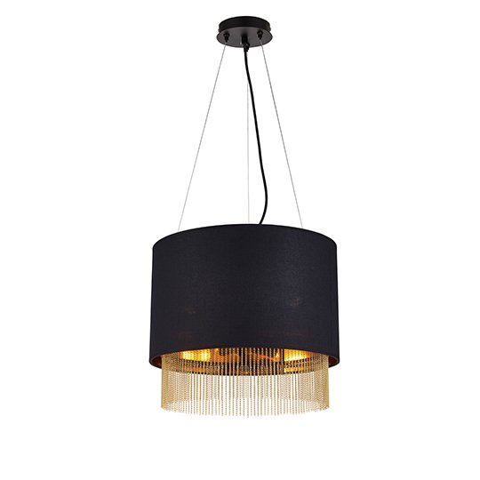 Ceres 3 Lights Pendant Ceiling Light In Black Shade