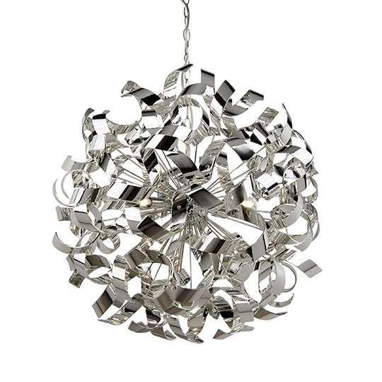 Ceres 6 Lights Curls Pendant Ceiling Light In Chrome
