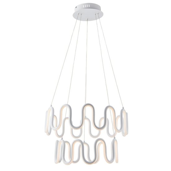 Cern Wall Hung Pendant Light In White
