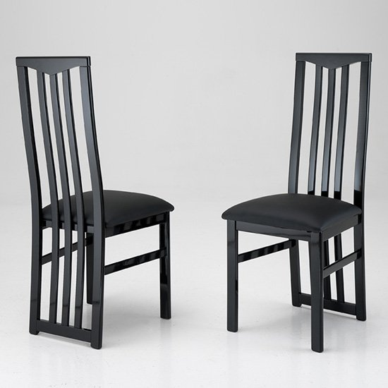 Cexa Wooden Dining Chair In Black
