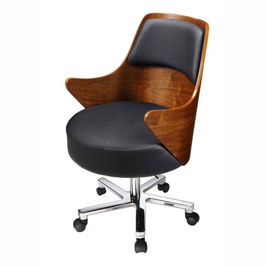 alfa img showing walnut desk chair