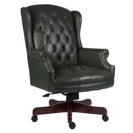 Chairman Green Traditional Leather Executive Chair
