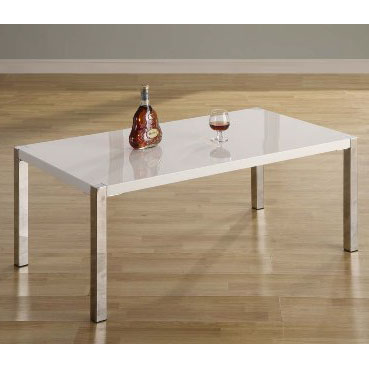 View Stefan high gloss white coffee table
