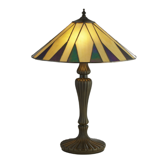 Charleston Tiffany Table Lamp In Multicolour