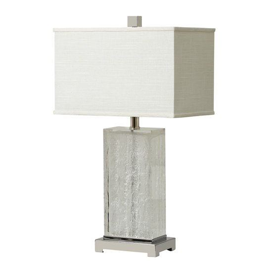 Charlotte Table Lamp With Frosted Ribbed Glass Base