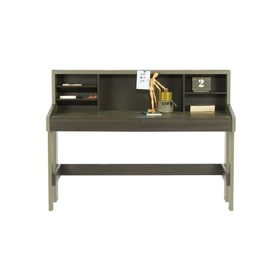Charlotte Computer Desk In Forrest Charcoal With Shelves_2