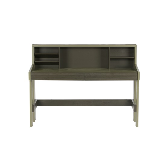 Charlotte Computer Desk In Forrest Charcoal With Shelves_4