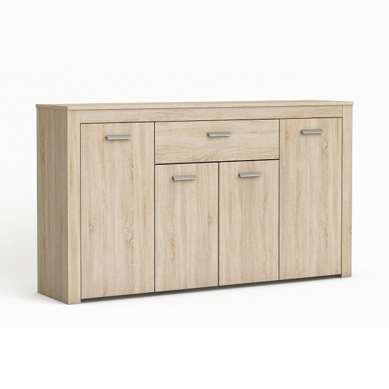 Chase Wooden Sideboard In Brushed Oak With 4 Doors