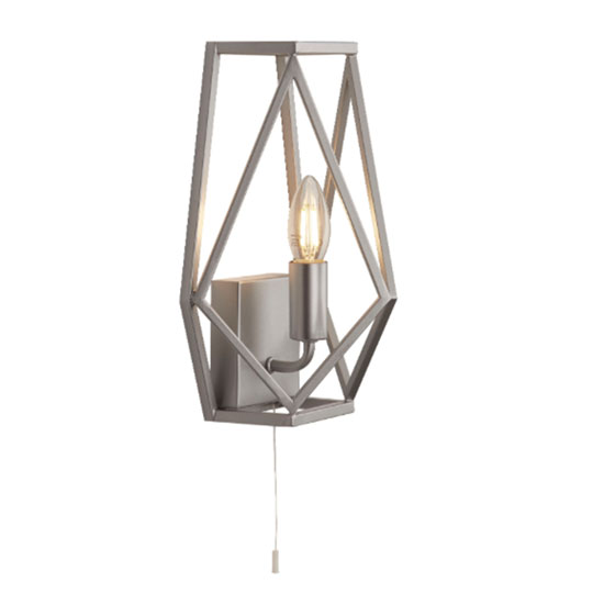 Chassis 1 Lamp Wall Light In Satin Silver