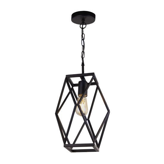 Chassis Wall Hung 1 Pendant Light In Matt Black