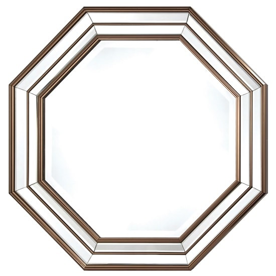 Chateaux Wall Mirror Octagonal In RoseGold And Copper