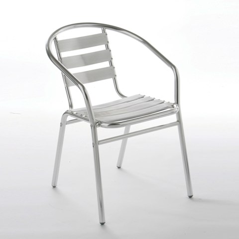 Stylish Bistro Chair In Aluminium