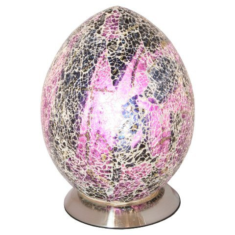 Mosaic Purple Egg Lamp